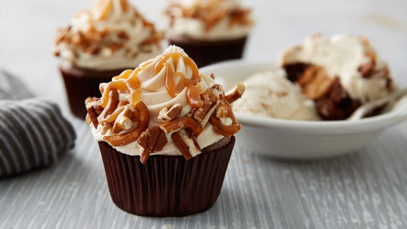 Chocolate Cupcakes With Salted Caramel
